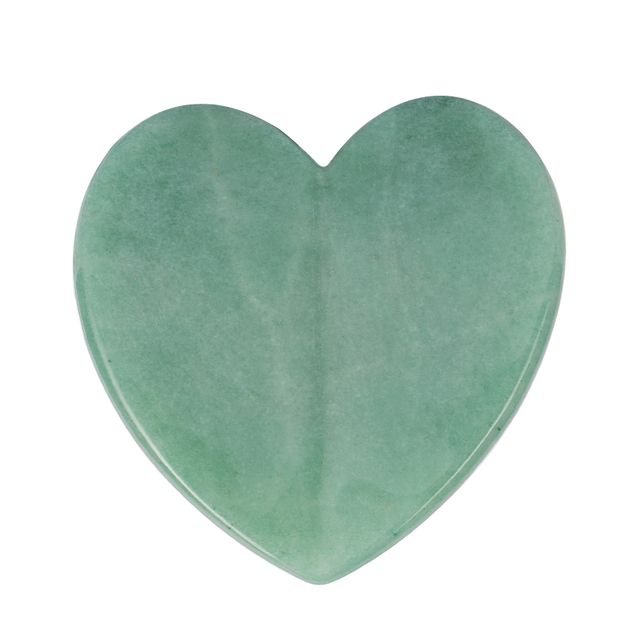 Heart-Shaped Natural Green Aventurine Gua Sha Facial Massage Natural Scraping board Body Scraper Crystal Scratching