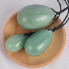 Green Aventurine Jade Yoni Eggs, Green Aventurine Massage Kegel Jade Eggs for Women PC Muscle Training