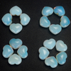 20mm 30mm 35mm Opalite Heart Shape Gemstone Beads Natural Opalite Crystal Hearts
