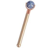 Single-end Blue Spot Jasper Stone Ball Roller and Skin Gym Face Facial Roller for Face Massager Tool