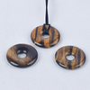 Natural Tiger Eye Gemstone Donut Carved Crystal Gemstone Donut