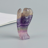 1.5 Inch Amethyst Stone Small Carved Crystal Angel Figurine