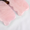 Wave Shaped Rose Quartz Gua Sha Scraping Gua Sha Board for SPA Acupuncture Treatment, Reducing Neck and Muscle Pain