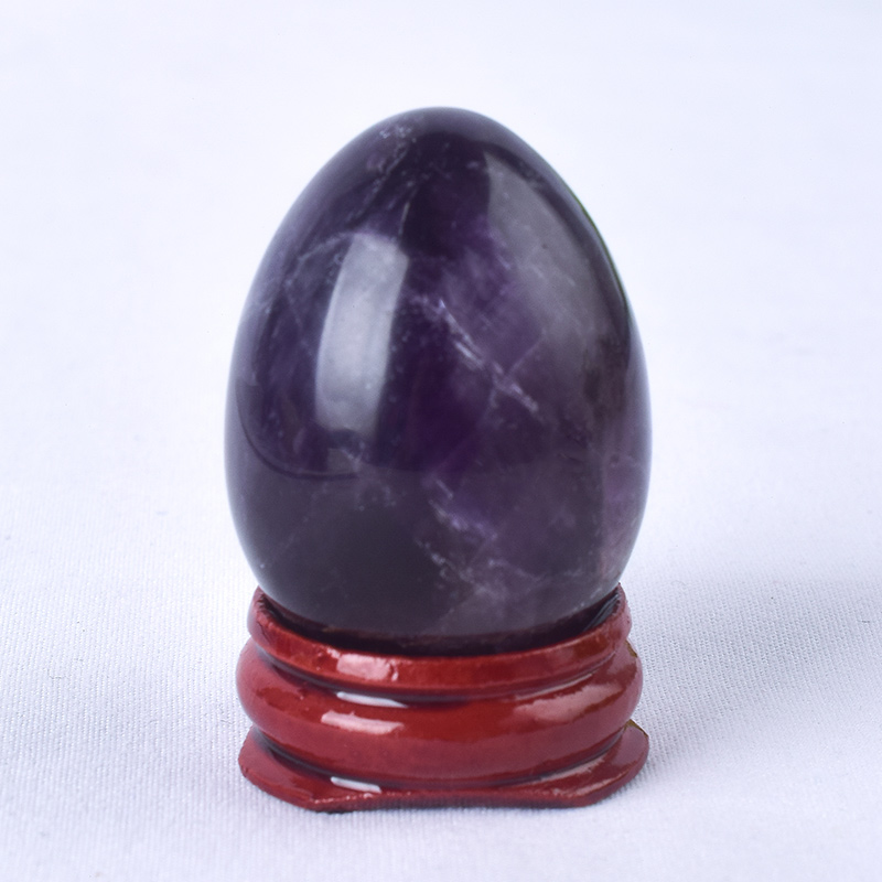 Undrilled Violet Amethyst Yoni Eggs Massage Jade egg to Train Pelvic Muscles Kegel Exercise