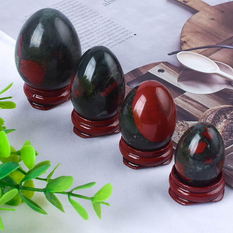 Undrilled Blooded Stone Yoni Eggs Massage Jade egg to Train Pelvic Muscles Kegel Exercise