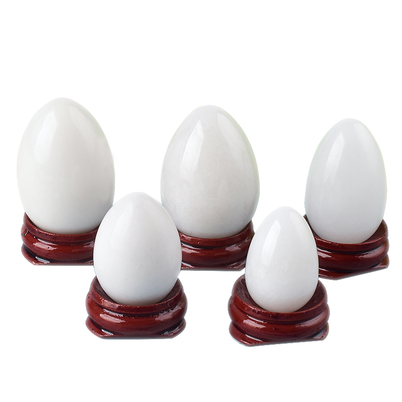 Undrilled White Jade Yoni Eggs Massage Stones to Train Pelvic Muscles Kegel Exercise
