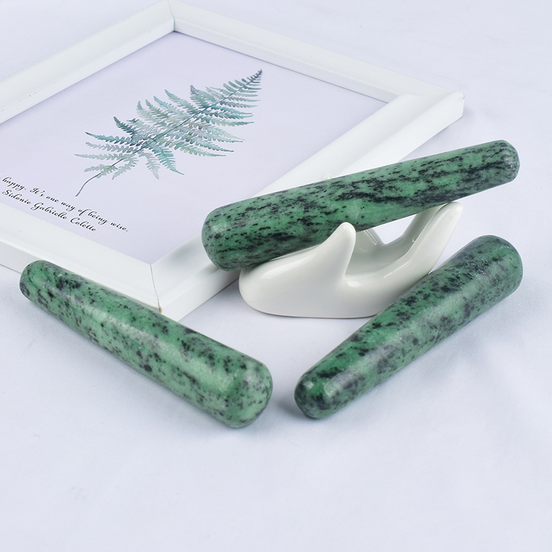 Natural Ruby Zoisite Wand Massage Wand for Acupuncture Therapy Stick