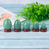 Undrilled Green Aventurine Yoni Eggs Massage Jade egg to Train Pelvic Muscles Kegel Exercise