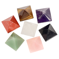 Mixed Natural Gemstone Crystal Pyramid Healing Crystal Pyramid For Decor Pyramid
