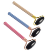 Single-end Black Obsidian Roller and Skin Gym Face Facial Roller for Face Massager Tool