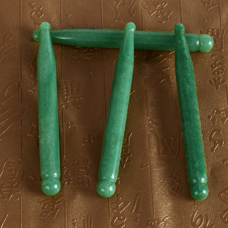 Natural Green Aventurine Guasha Scraping Massage Tool, Massage Wand for Acupuncture Therapy Stick