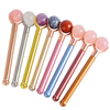 Single-end Rose Quartz Ball Roller and Skin Gym Face Facial Roller for Face Massager Tool