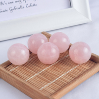 Natural Rose Quartz Stone Crystal Ball Sphere