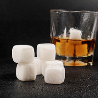 Natural White jade Whiskey Stones Gemstone Whiskey Ice Stone