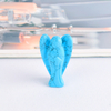 1.5 Inch Natural Turquoise Stone Small Carved Crystal Angel Figurine