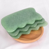 Wave Shaped Green Aventurine Gua Sha Scraping Gua Sha Board for SPA Acupuncture Treatment, Reducing Neck and Muscle Pain
