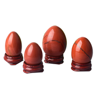 Undrilled Red Jasper Yoni Eggs Massage Jade egg to Train Pelvic Muscles Kegel Exercise