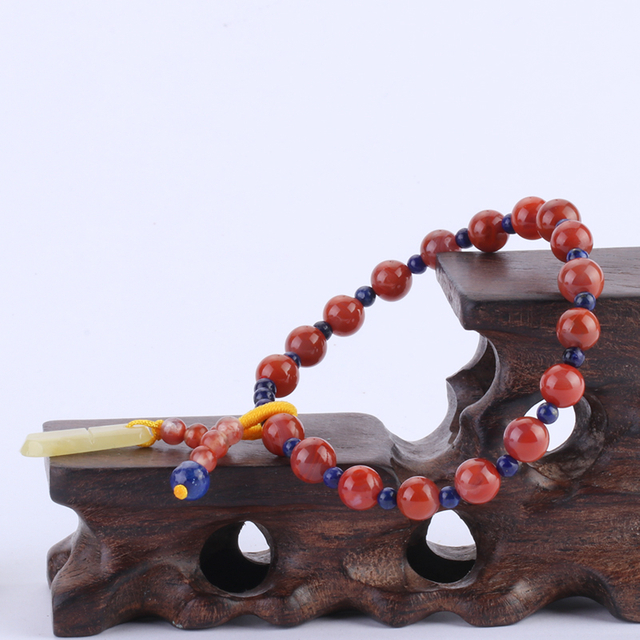 Natural Carnelian with Lapis Lazuli Hand String