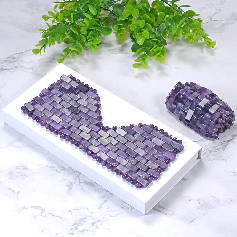 Natural Jade Eye Mask Amethyst Cooling Jade Premium Sleep Eye Mask