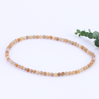 Natural Coral Jade Three-Circle Hand String